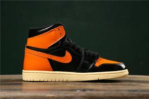 2019 nuove 1 retro Shattered Backboard 3.0 SBB3.0 scarpe da basket uomo / donna / bambino 1s sneaker da basket per ragazzo sportivo arancione nero giovani