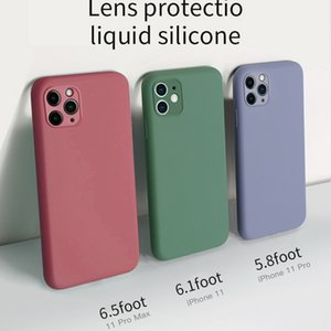 Liquid Silicone Phone Case For iPhone 11 case 11 Pro XS Max X XR 7 8 6 6S Plus SE 2 2020 Soft Gel Camera Lens Protective Cover