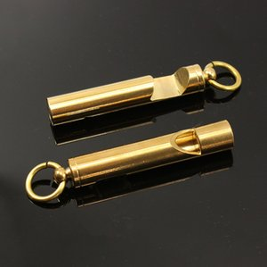 Vintage brass whistle opener brass whistle key chain pendant outdoor EDC tool SOS Survival Multi-purpose help tool QK19063009