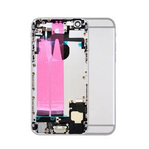 10pcs conjunto de la caja de la cubierta completa de la batería de la puerta trasera con Flex Cable para iPhone 6 6G 6S Plus Metal de nuevo chasis carcasa intermedia