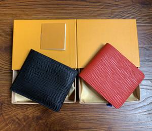 Paris estilo xadrez Designer mens carteira homens famosos de luxo bolsa especial lona múltipla pequena carteira curto bifold com caixa