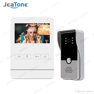 JeaTone Preço Baixo vídeo porteiro Vídeo Intercom Doorbell 1200TVL Camera 4 polegadas Monitor de Video Record Desbloquear Porta de Segurança Sistema de Acesso