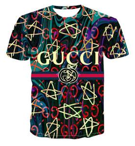 Designer hommes Head Impression numérique Logo Horreur shirt 3D Circaète manches élastiques de grande taille T-shirt court M-6XL