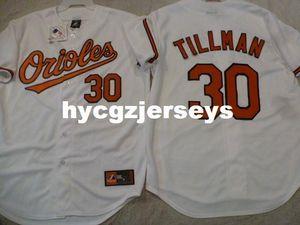 Cheap baseball BO #30 CHRIS TILLMAN shirt Sewn JERSEY Mens stitched jerseys Big And Tall SIZE XS-6XL For sale