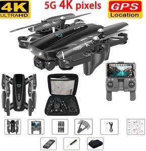 RC aviões GPS Drone com 4k câmera 5G Helicópteros RC Quadrotor Drones HD 4K WIFI FPV dobrável Off-Point plano do vôo rc
