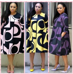 Nouveau style Femmes Africaines Vêtements Dashiki Mode Imprimer Tissu Robe taille L XL XXL XXXL Nouveau