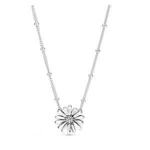 L'alta qualità nuova della molla Pave Daisy Flower Collier collana originale 925 Sterling Silver collana per le donne trasporto libero 398964C01