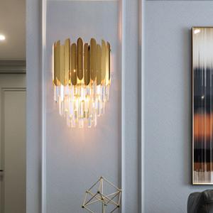 Современные настенные Бра светильник Luxury Gold Настенный светильник Светильники Прикроватная Гостиная Настенные светильники AC 100-265V