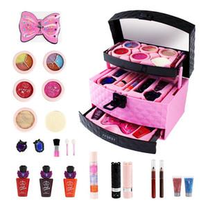 23pcs Cosméticos para niños Caja de maquillaje Princesa Maquillaje avanzado Estuche de maquillaje Cosméticos Juguete Chica Cosméticos Juguetes Princesa Play House