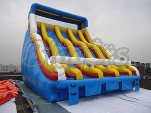 Commercial Grade Inflatable Slide Multiple Lanes Water Park Slide For Sale