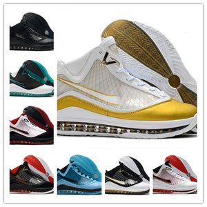 Mode White Gold James 7 All Star Roter Teppich Herren-Basketball-Schuhe Schwarz Weiß Rot Mid-Autumn Festival James 7s Jogging Sport-Turnschuhe