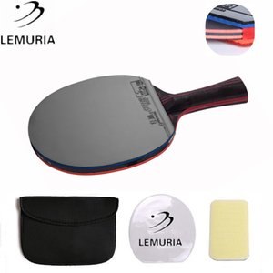 Lemuria Hybrid Wood 9.8 Brand Quality Table tennis racket double face Pimples-in blue rubber Ping Pong Racket tenis de mesa T200410