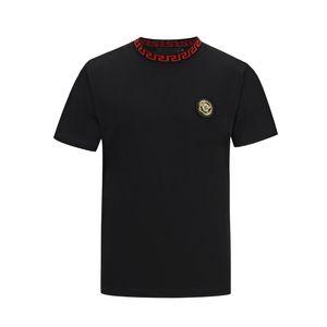 summer brand new Fashion luxury designer Men's Printed Phillip Plain Short-sleeved Fluorescent Skull Head Drilled Cotton T-shirt M-3XL