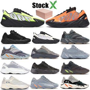 700 Runner 2020 New Kanye Laranja Phosphor Mens óssea Mulheres Carbono Teal azuis Sports estáticos inércia Vanta Running Shoes estilista Sneakers