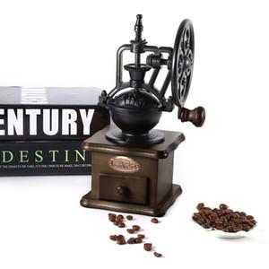 wholesale Retro Manual Coffee Grinder Hand Grinding Machine Coffee Bean Mill Grinding Ferris Wheel Design Coffee Maker Machine