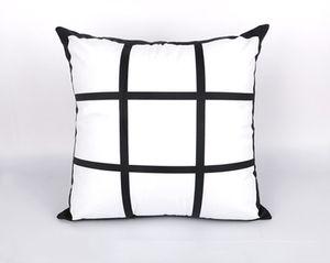 DIY Sublimação fronhas 9-grade 45cm de transferência de calor 45 centímetros * impressão por transferência térmica em branco pillowslip gridview impressão fronha A07