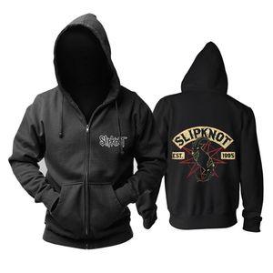 Bloodhoof Frete grátis Slipknot Nu Metal Alternativa de Metal com zíper de algodão com capuz Tamanho Asiático