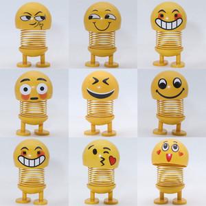 Творческий Emoji Фигурки Смешные Прыгающая Кукла Весенняя Голова Игрушка Кукла Автомобильные Аксессуары Интерьер Bobblehead Украшения Автомобиля Симпатичная Статуэтка Smil