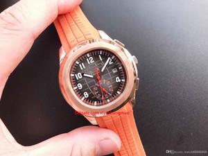 Di lusso della vigilanza del movimento Aquanaut 5968Automatic acciai inossidabili gomma comodo cinturino fibbia originale Super uomini luminosi orologi