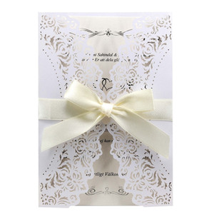 Luxury Wedding Invitation Cards with Envelopes Laser Cut Lace Greeting Card Wedding Decoration Party Supplies WB1844