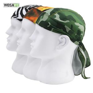 WOSAWE Quick Dry Impressão Cycling Cap Men Verão Correndo Caminhadas Pesca Bandana Lenço Ciclismo capa Headband crânio Caps