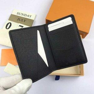 디자이너 카드 홀더 남성 비즈니스 카드 유명 남성 여성 고급 짧은 지갑 pu 신용 카드 미니 작은 지갑 포켓 지갑