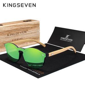 KINGSEVEN Солнцезащитные очки Мужчины Bamboo ВС Женщины Марка Дизайнер Оригинальный Вуд очки óculos де золь Y200619 Мужчина для