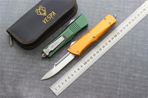VESPA coltello lama: D2 (satinato) sei colori Maniglia: Alluminio, la sopravvivenza di campeggio esterna coltelli strumenti EDC