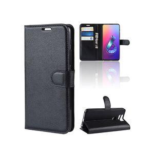 For Asus Zenfone 6 2019 ZS630KL 6Z Litchi Grain Hot Selling Premium PU Leather Book Flip Wallet Case Cover