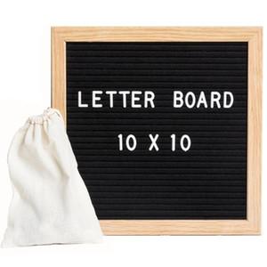 """ACI-525 رسالة لوحة تسجيل مع 288 شخصيات بيضاء للتغيير - 10 """"× 10"""" مع إطار البلوط والأسود علامة لوحة جديدة"""