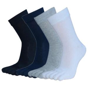 2018 nuevo Mens caliente Casual Crew calcetines de algodón tamaño largo calcetines ocasionales del color sólido