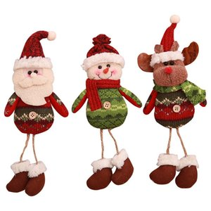 Christmas Dolls Hanging Pendant Christmas Snowman Decoration Gift Old Man Charm Dolls Parachute Ornaments Toy New Year