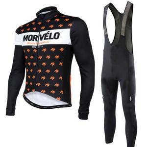 2018 봄 / 가을 Morvelo 클래식 사이클링 저지 남성용 세트 도로 자전거 사이클링 착용 Maillot Ciclismo 긴 소매 스포츠 정장 120311Y