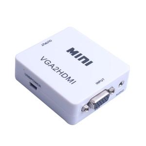 1080P MINI VGA al convertitore di HDMI con VGA2HDMI Video Audio Adapter Box per Notebook PC per HDTV del proiettore