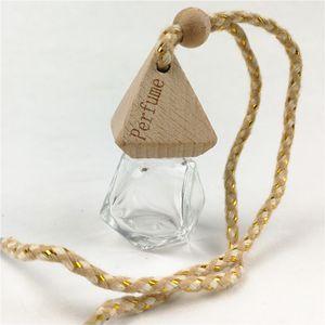 Car Perfume Bottle Pendant Essential Oil Diffuser Bag Clothes Ornaments Air Freshener Pendant Empty Glass Bottle Perfume 100 pcs free DHL