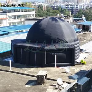 Gigante Toma Astronomia à Escola Dome inflável Projeção Tent Planetarium, insufláveis tenda móvel cinema projetion com duas portas para a Espanha
