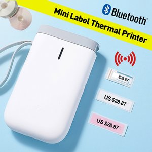 ffice Electronics Printers Portable Thermal Label Printer Handheld Name Price Sticker Printer BT Connection with USB Cable for Home Offic...