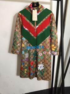 üst uç kadınlar kızlar teknik forması elbise çizgili bağ bozumu birbirine mektup çiçek baskı uzun bir satırı manşon etek moda tasarım elbiseler