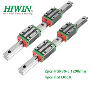 2 adet Orijinal Yeni HIWIN HGR30-1200mm doğrusal kılavuz / ray + 4 adet HGH30CA cnc router parçaları için doğrusal dar bloklar