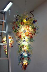 2020 Fashionable Flush Mount Chandelier Lights Hotel Decorative China Handmade Blown Glass Chandelier Light Designer Art Decor