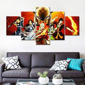 Photos modulaires 5 Panneau Avatar de l'toile de peinture Last Airbender Japon Affiches et estampes Peinture Toile __gVirt_NP_NN_NNPS<__ F2109