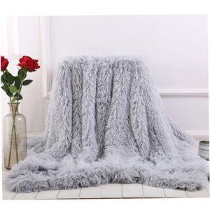 2020 New Shaggy Couverture Throw peluche douce Fuzzy Couvre-lit Couverture colorée Fluffy fausse fourrure décorative pour Couch Sofa