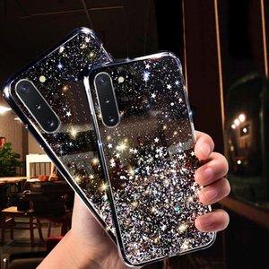 Glitter Star designer phone case For samsung galaxy s10 plus case samsung galaxy note 10 plus luxury designer case s20 plus cover