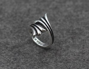 925 sterling silver rings trend personality jewelry punk style mens and womens Lovers gift hip hop cross style luxury designer jewelry 0017