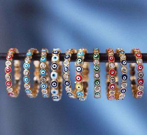 olho do mal anéis anéis turcos para as mulheres anéis de dedo midi banhado a ouro hip hop jóias turca jóias muçulmano