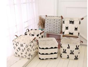 Rangement des vêtements Bucket 6 Styles Folding panier à linge pour enfants Jouets Mêle stockage Barrel Pliable blanchisserie Organisateur Holder Box SN4059