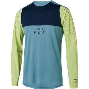 2020 hombres HPIT FOX MTB camisetas de descenso carrera cara bicicleta de montaña MTB camisetas Offroad DH motocicleta jersey Motocross ropa deportiva FXR