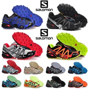 Atacado SpeedCross 3 III CS mulheres homens atléticos sapatos de caminhada ao ar livre acelerar tênis Cruz Vermelha preto azul camo treinadores desportivos sneakers