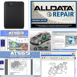 2019 Alldata yeni V10.53 ve Mitchell 2015 araba tamir veri canlı atölye ağır kamyon 46 in 1 tb için yeni hdd araba kamyon