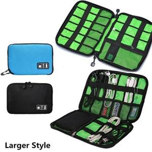 전자 액세서리 케이블 USB 드라이브 주최자 가방 휴대용 여행 삽입 케이스